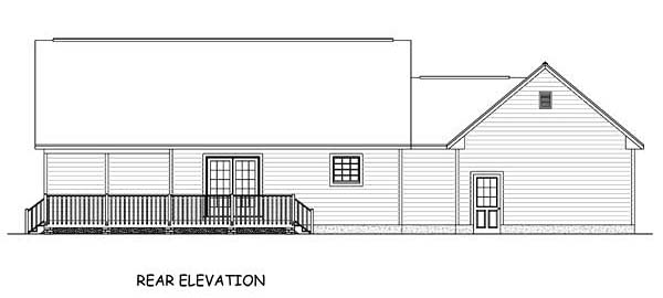 Country Ranch Southern House Plan 40623 Rear Elevation