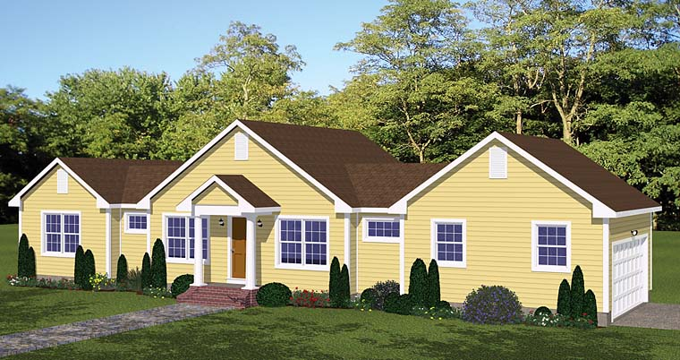 Country Ranch Southern Traditional House Plan 40626 Elevation