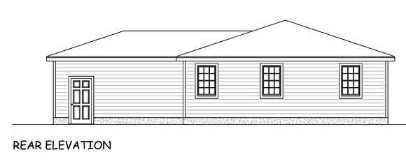 Ranch House Plan 40630 Rear Elevation