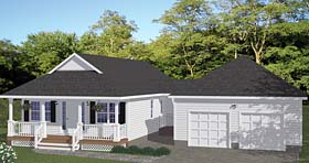 Country , Southern , Traditional House Plan 40635 with 3 Beds, 2 Baths, 2 Car Garage Elevation