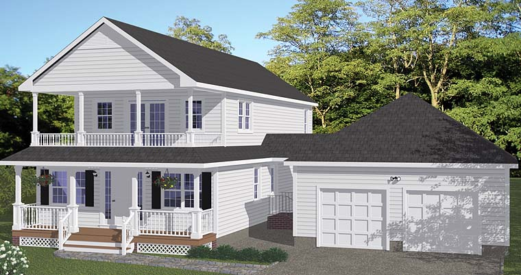 Country, Southern, Traditional House Plan 40636 with 5 Beds, 3 Baths, 2 Car Garage Elevation