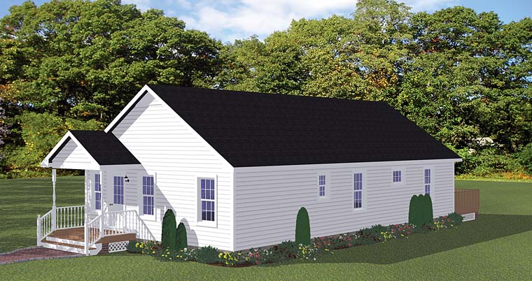 Traditional House Plan 40639 with 3 Beds, 2 Baths, 2 Car Garage Elevation
