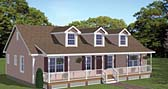 Plan Number 40643 - 1381 Square Feet