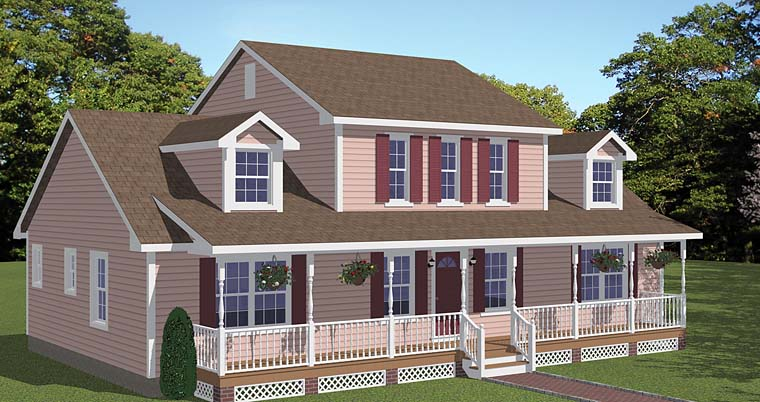 Country, Southern, Traditional House Plan 40644 with 4 Beds, 3 Baths