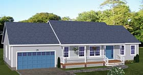 Plan Number 40646 - 1392 Square Feet