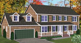 Country Southern Traditional House Plan 40650 Elevation