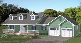 Traditional , Southern House Plan 40651 with 3 Beds, 2 Baths Elevation