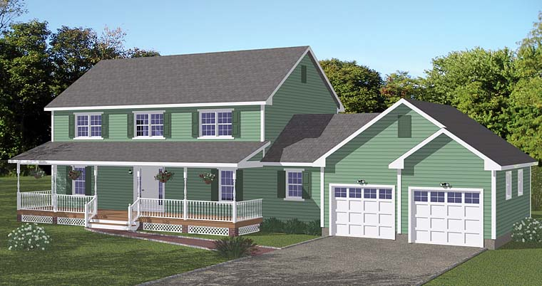 Colonial Country Southern Traditional House Plan 40652 Elevation