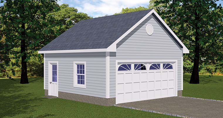 Traditional Garage Plan 40654 Elevation