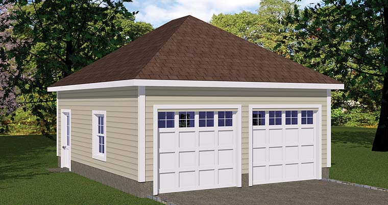 Garage Plan 40655 Elevation