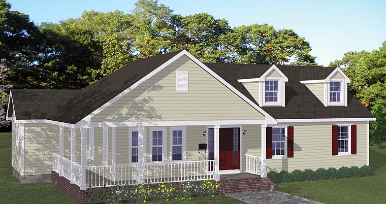 Country, Traditional House Plan 40662 with 3 Beds, 2 Baths Elevation