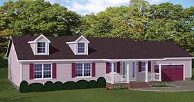 Ranch Traditional House Plan 40665 Elevation