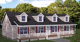 House Plan 40666 | Country Ranch Southern Style Plan with 1538 Sq Ft, 3 Bedrooms, 2 Bathrooms Elevation