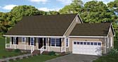 Plan Number 40670 - 1268 Square Feet