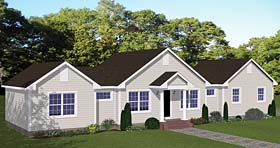 Ranch Traditional House Plan 40672 Elevation