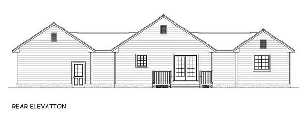 Ranch Traditional House Plan 40672 Rear Elevation
