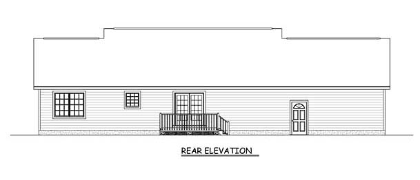 Country Ranch Traditional House Plan 40675 Rear Elevation