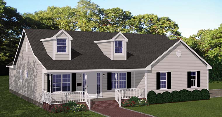 Traditional House Plan 40676 Elevation