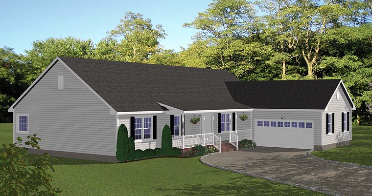 Ranch , Elevation of Plan 40679