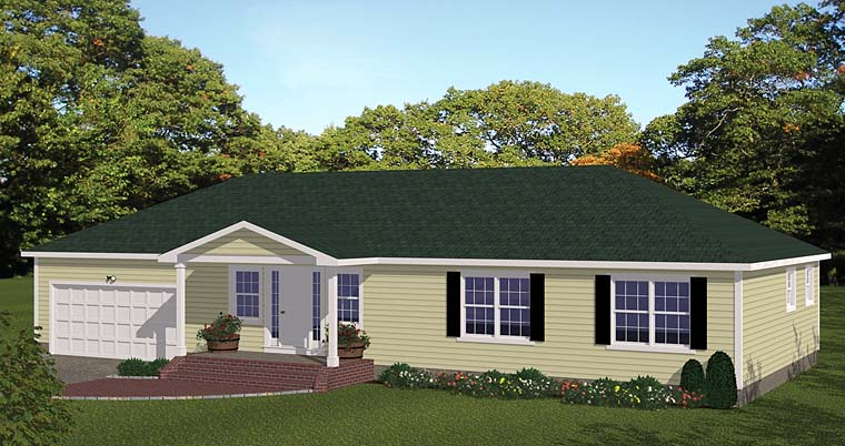 House Plan 40680 Ranch Style With 1508 Sq Ft 3 Bed 2 Bath