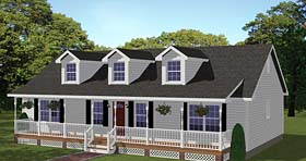 Plan Number 40683 - 1381 Square Feet