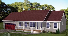 Traditional , Ranch , Country House Plan 40684 with 3 Beds, 2 Baths, 2 Car Garage Elevation
