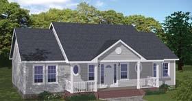 Country , Ranch House Plan 40686 with 3 Beds, 2 Baths Elevation