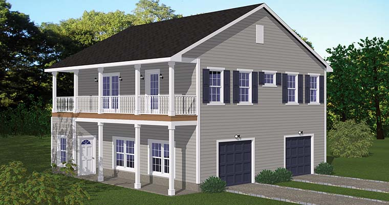 Garage Plan 40693 Elevation