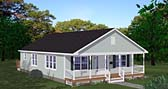 Plan Number 40697 - 1408 Square Feet