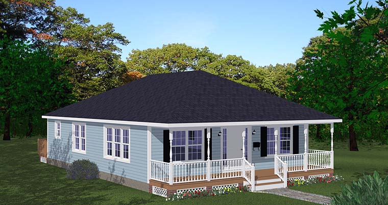 Cottage House Plan 40698 Elevation