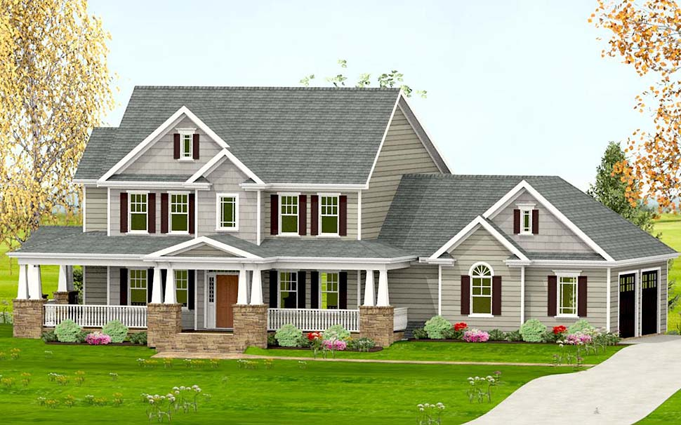 Country, Craftsman, Farmhouse, Southern House Plan 40717 with 3 Beds, 4 Baths, 2 Car Garage Picture 1