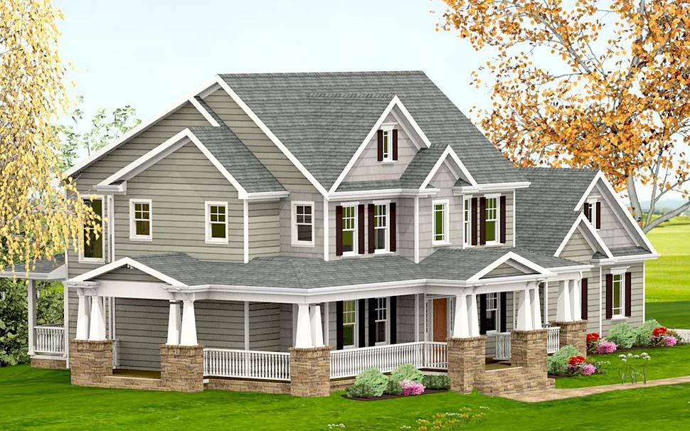 Country, Craftsman, Farmhouse, Southern House Plan 40717 with 3 Beds, 4 Baths, 2 Car Garage Picture 2