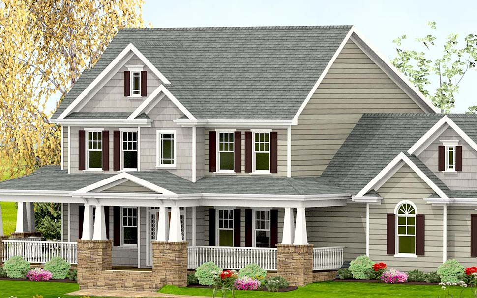 Country, Craftsman, Farmhouse, Southern House Plan 40717 with 3 Beds, 4 Baths, 2 Car Garage Picture 3