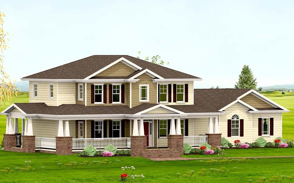 Country, Craftsman, Farmhouse House Plan 40719 with 3 Beds, 4 Baths, 2 Car Garage Picture 1