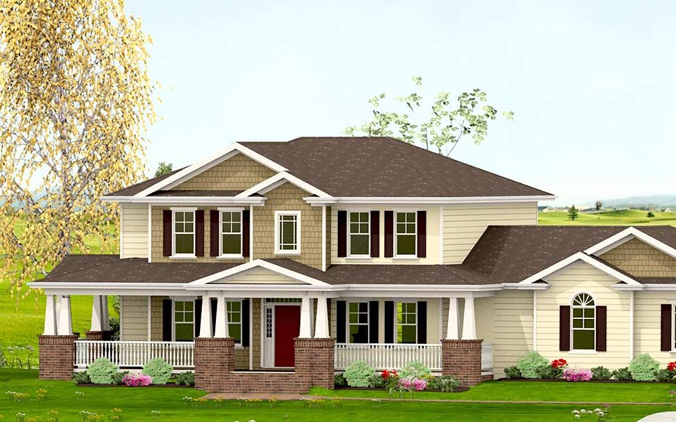 Country, Craftsman, Farmhouse House Plan 40719 with 3 Beds, 4 Baths, 2 Car Garage Picture 2