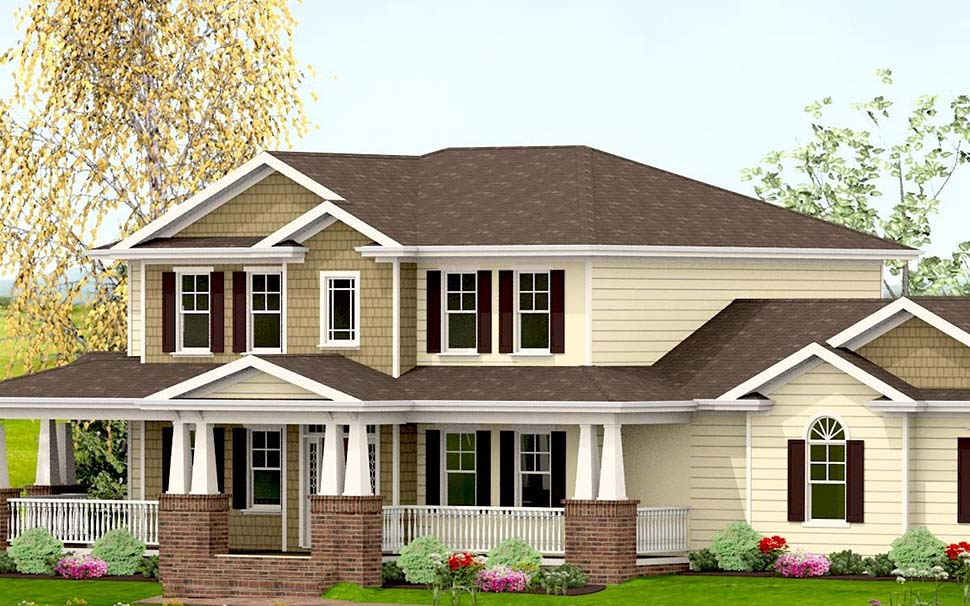 Country, Craftsman, Farmhouse House Plan 40719 with 3 Beds, 4 Baths, 2 Car Garage Picture 3