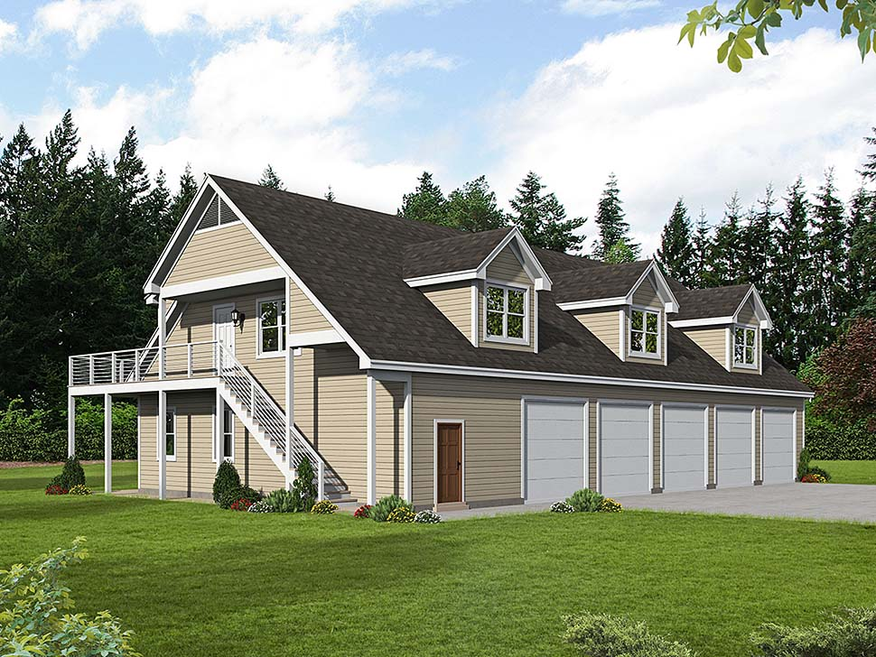Country Traditional Elevation of Plan 40801