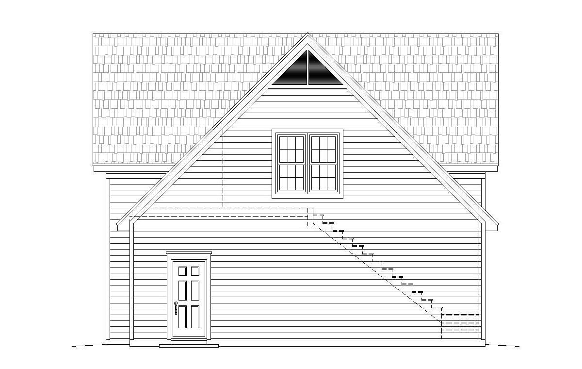Ranch, Traditional 3 Car Garage Plan 40803, RV Storage Picture 1