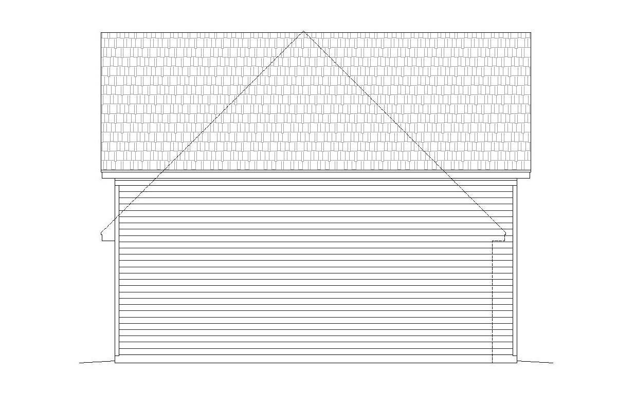 Ranch, Traditional 3 Car Garage Plan 40803, RV Storage Picture 2