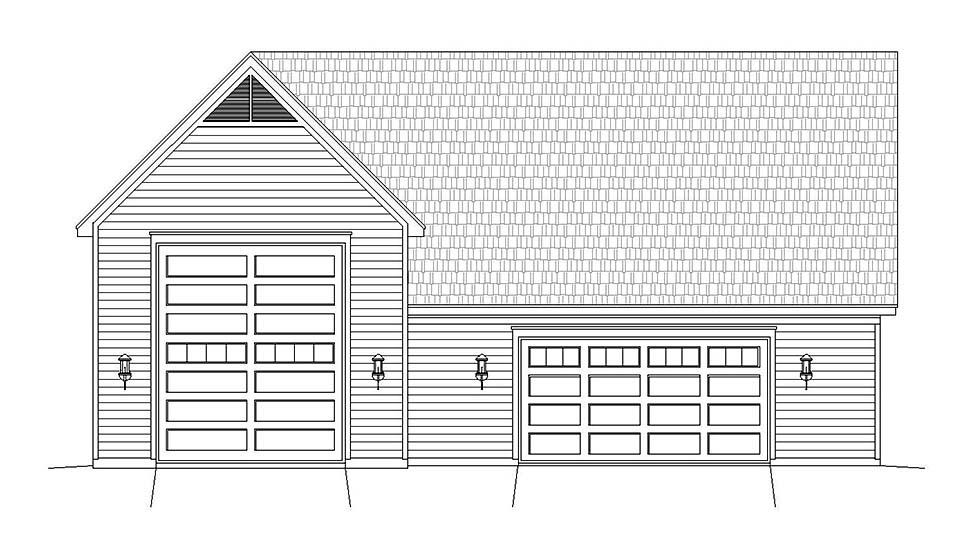 Ranch, Traditional 3 Car Garage Plan 40803, RV Storage Picture 3