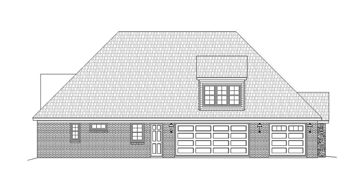 Craftsman, European, French Country House Plan 40804 with 3 Beds, 4 Baths, 3 Car Garage Picture 2