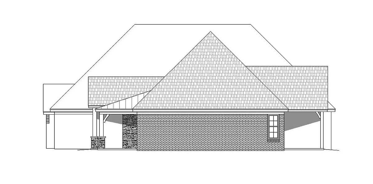 Craftsman, European, French Country House Plan 40805 with 3 Beds, 4 Baths, 3 Car Garage Picture 1