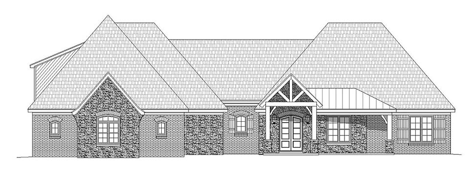 Craftsman, European, French Country House Plan 40805 with 3 Beds, 4 Baths, 3 Car Garage Picture 3