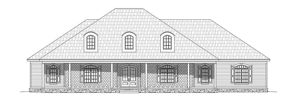 Country, Farmhouse, Ranch, Traditional House Plan 40806 with 4 Beds, 5 Baths, 3 Car Garage Picture 4