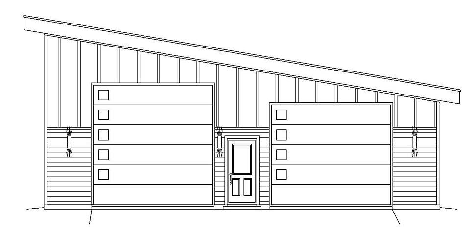 Contemporary, Modern 2 Car Garage Plan 40807, RV Storage Picture 3