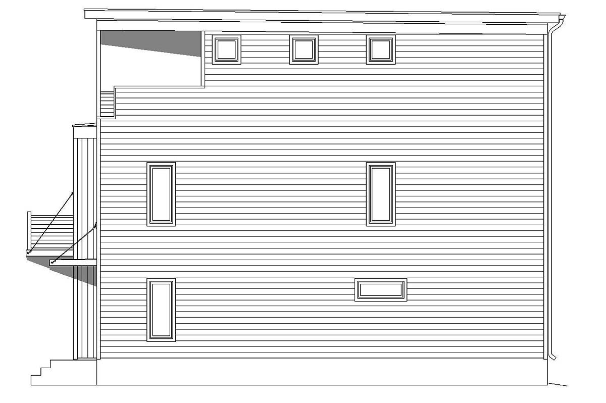 Coastal, Contemporary, Modern 0 Car Garage Plan 40812 with 3 Beds, 4 Baths Picture 1
