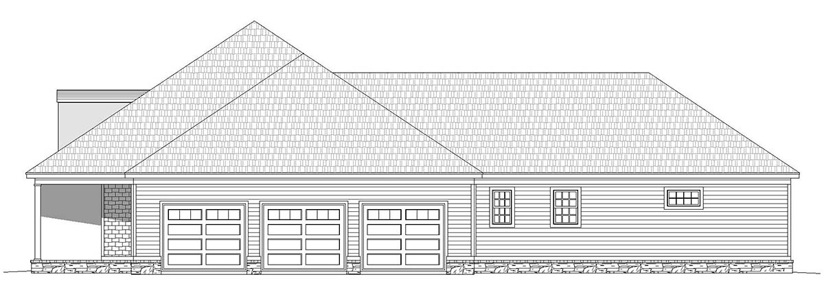 Country, Ranch, Traditional House Plan 40814 with 4 Beds, 4 Baths, 3 Car Garage Picture 1