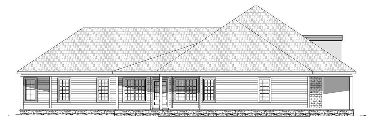 Country, Ranch, Traditional House Plan 40814 with 4 Beds, 4 Baths, 3 Car Garage Picture 2