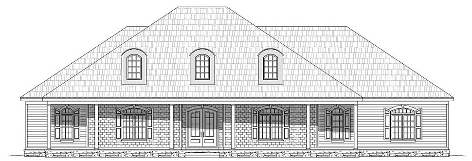 Country, Ranch, Traditional House Plan 40814 with 4 Beds, 4 Baths, 3 Car Garage Picture 3