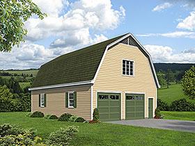 Farmhouse 2 Car Garage Plan 40815 Elevation